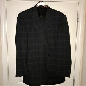 Burberry Grey windowpane suit